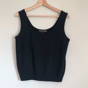 ST. JOHN Basics Santana Knit Black Tank Medium